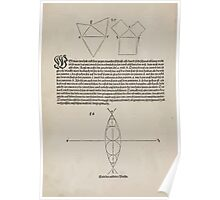Measurement With Compass Line Leveling Albrecht Dürer or Durer 1525 0076 Repeating Shapes Poster