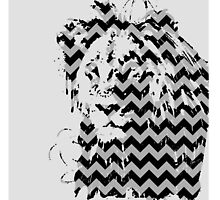 Gray Chevron Lion  by TylerCimo