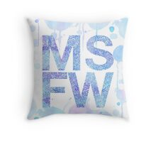 Melbourne Spring Fashion Week - Blue Throw Pillow