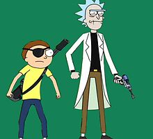 Evil Rick and Morty by Bluepotatogirl