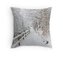 The winter lane Throw Pillow