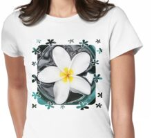 Plumeria in Water Womens Fitted T-Shirt