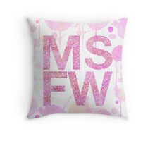 Melbourne Spring Fashion Week - Pink Throw Pillow