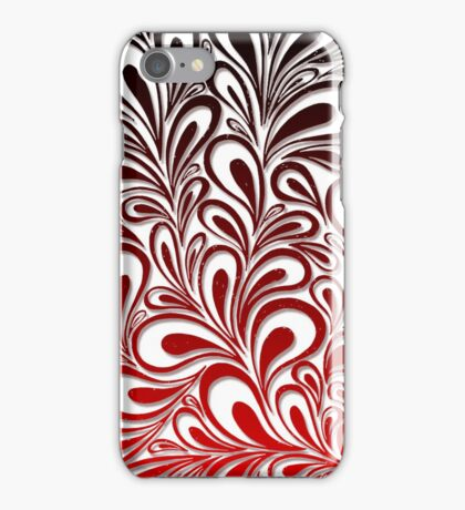 Gradient Red Floral Design  iPhone Case/Skin