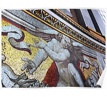Wall mosaic, St Peter's basilica, Rome, Italy Poster