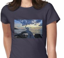 Maluaka Beach Sunset Womens Fitted T-Shirt