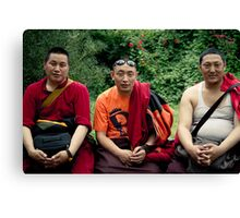 tibetan monks prefer nikon Canvas Print