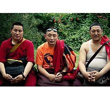 tibetan monks prefer nikon Photographic Print