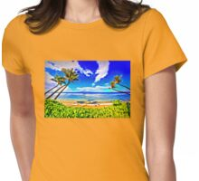 Paradise Found Kaanapali Beach  Womens Fitted T-Shirt