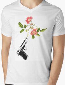 Shoot Flowers, Not Bullets  Mens V-Neck T-Shirt