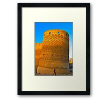 The Leaning Tower of The Arg of Karim Khan - Shiraz - Iran Framed Print
