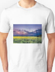 Summer Sunset on Sunflower Field T-Shirt