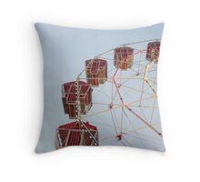 Red Ferris Wheel Throw Pillow