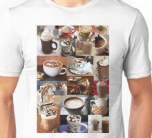 Hot Chocolate Winter Collage  Unisex T-Shirt