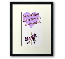 The Cruel Reality of Mary-Go-Rounds  Framed Print