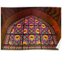 Window of Flowers - Arg of Karim Khan - Shiraz - Iran Poster