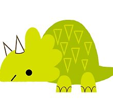 Green Triceratops by katuno