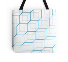 Light Blue Cubes Tote Bag