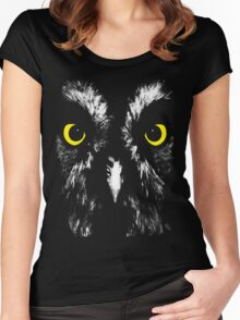 Owl Face Women's Fitted Scoop T-Shirt