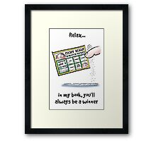 Itchy Scalp Scratch Ticket Framed Print