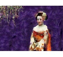 Maiko on Purple Background Photographic Print