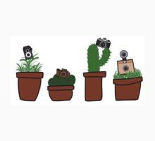 Vintage Camera Plants One Piece - Short Sleeve