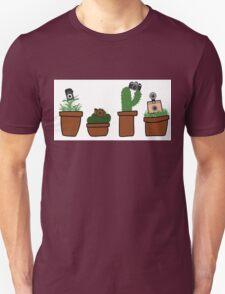 Vintage Camera Plants Unisex T-Shirt