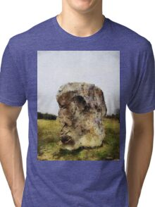 The face in the rock, Avebury Henge, Wiltshire, UK Tri-blend T-Shirt