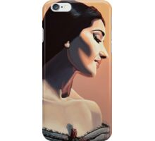 Maria Callas painting iPhone Case/Skin