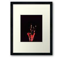 flambe Framed Print