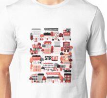 Streat Town on White Unisex T-Shirt