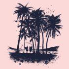 Palm Sunset - Hand drawn by coltrane
