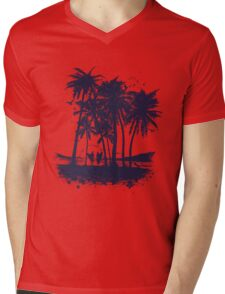 Palm Sunset - Hand drawn Mens V-Neck T-Shirt