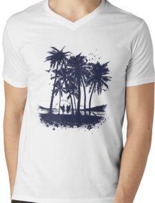 Palm Sunset - Hand drawn Mens V-Neck T-Shirt