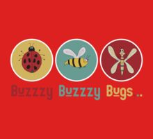 Buzzzy Bugs with Ladybug, Bee and Dragonfly Baby Tee