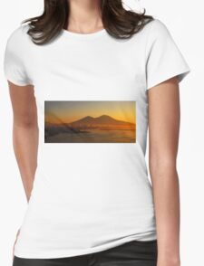 Industrial Dawn, Naples, Italy Womens Fitted T-Shirt