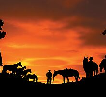 Outback Stockmen by robertemerald