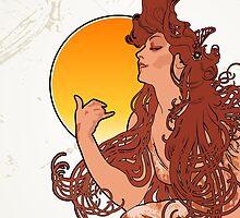 Alphonse Mucha Art Nouveau Vintage Design by Dacdacgirl