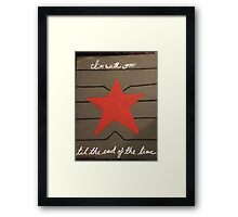 To the End of the Line Framed Print