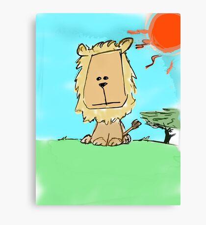 Sad lion Canvas Print
