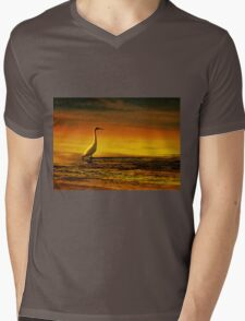 Egret on Chesil Beach, Portland, Dorset, UK T-Shirt