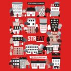 Streat Town on Red by STREAT