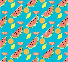 Fresh and Fruity Illustration Pattern by DoucetteDesigns