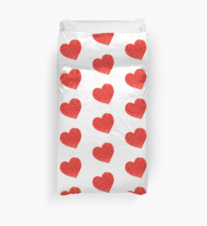 Candle Sprinkles Heart Shapes Duvet Cover
