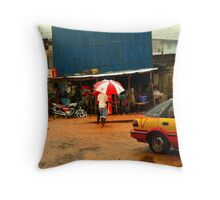 Rain in Freetown II Throw Pillow