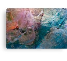 Patchwork-Pieces of different materials Canvas Print