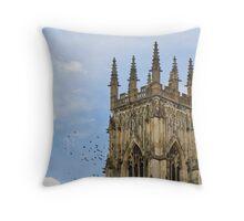 York Minster with birds Throw Pillow