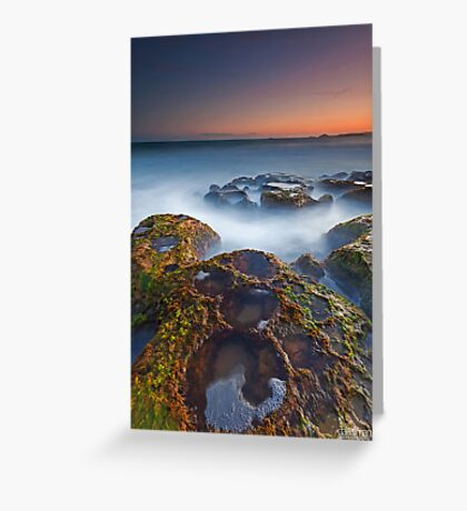 Craters at Boomer Beach Greeting Card