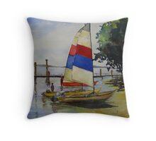 The Bright Sail Throw Pillow