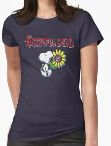 Snoopy flowers Womens Fitted T-Shirt